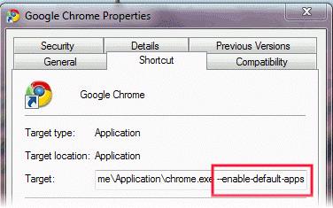 فعال کردن برنامهها در گوگل کروم