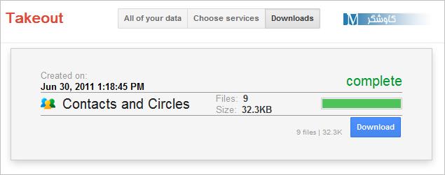 دانلود اطلاعات اکانت گوگل توسط Google Takeout