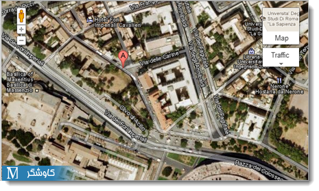 نمایی از حالت معمول  Google Maps