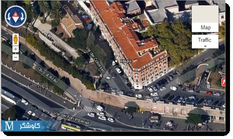 نمایی از حالت ۴۵ درجه در Google MapsGL