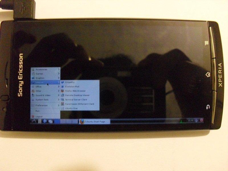 نصب اوبونتو 9.10 بر روی گوشی اکسپریا آرک